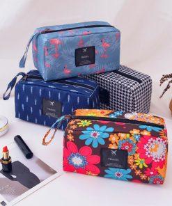 DAUNAVIA Cosmetic Bags for women Waterproof print wash bags ladies designer fashion Make up Bag Cosmetic storage bag for Travel