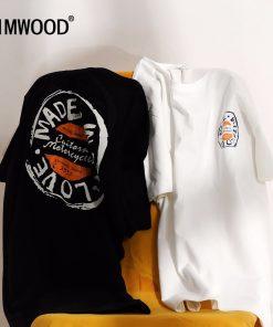 SIMWOOD T Shirt Men 2019 Crew Neck Summer New Graphic Print Fashion Slim Fit TShirt High Quality Plus Size Casual Tops 180044 1