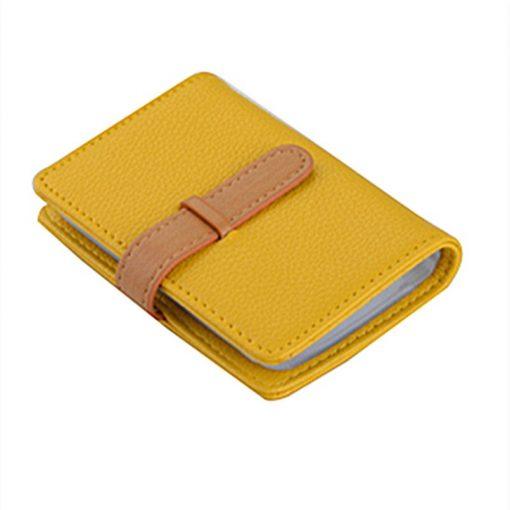 BISI GORO 2019 Business Name Card Holder Leather RFID Blocking Credit Card Case Buckle Men Women Sim Plastic Card Holders 3
