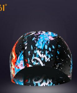 361 Water Sports Swimming Cap for Pool Waterproof Swim Caps Long Hair Women Swimming Hat for Men Quality Fashion Print Brand 1