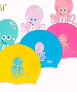 361 Children Swimming Cap Silicone Kids Swimming Caps for Pool Waterproof Ear Protection Boys Girls Cartoon Swim Cap Hat