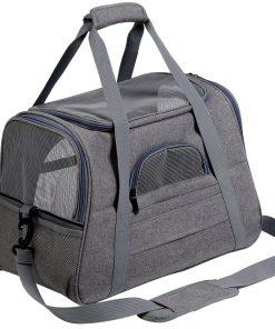 Pet Backpack Messenger Carrier Bags Cat Dog Carrier Outgoing Travel Pet Handbag Soft Side Dog Booster Seat For Small Dog 1
