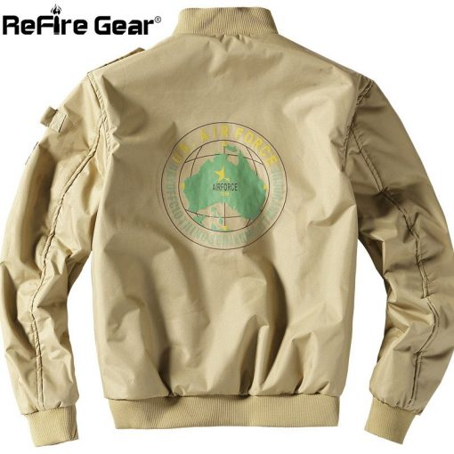 ReFire Gear Winter Air Force Flight Military Jacket Men Warm Thicken Fleece Lining Windbreaker Coat Casual Tactical Army Jackets 3