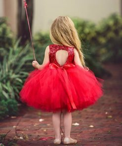 Girls Dress Summer Holiday Dresses For Children Sleeveless Sequins Girl Gowns Princess Kids Dresses For Girls 6 Years Robe file  1