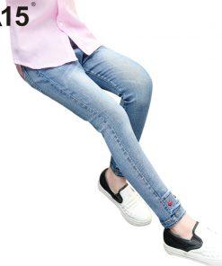 A15 Teenage Girls Jeans Pants Kids Jeans Girl Leggings Children Jeans Toddler Girl Jean Pants Skinny Pencil Pants Size 4 8 10 12