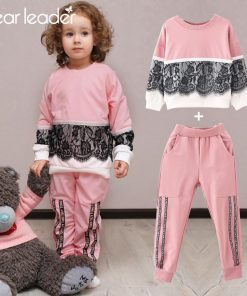 Bear Leader Girls Clothing Sets New Autumn Active girls clothes L Children Clothing Cartoon Print Sweatshirts+Pants Suit 3-7Y 1