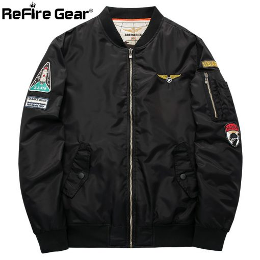 Winter MA1 Air Force Pilot Bomber Jacket Men Military Motorcycle Padded Tactical Jacket MA-1 Airborne Army Flight Coat Plus Size 5