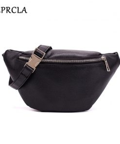 REPRCLA Waist Pack Fashion PU Leather Fanny Pack for Women Belt Waist Bag Brand Designer Shoulder Bag Casual Female Chest Bag