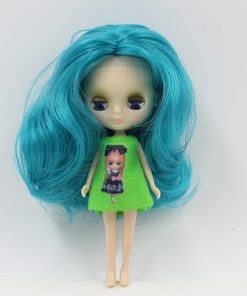blyth mini doll 10CM nude doll colorful long hair Pullip  1
