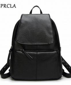 REPRCLA Hot Sale Women Backpacks Simple Casual PU Leather School Bags for Teenage Girls High Quality Women Bags Mochila