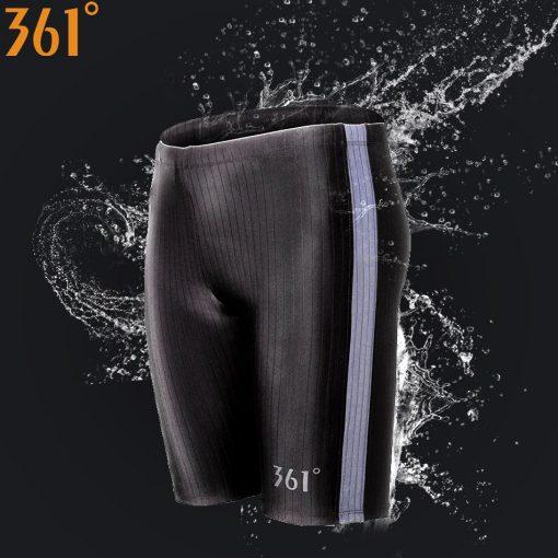 361 Men Swimsuit Plus Size Tight Swimming Trunks Quick Dry Pool Swim Shorts Training Swimwear for Men Boys Swim Pants Jammer