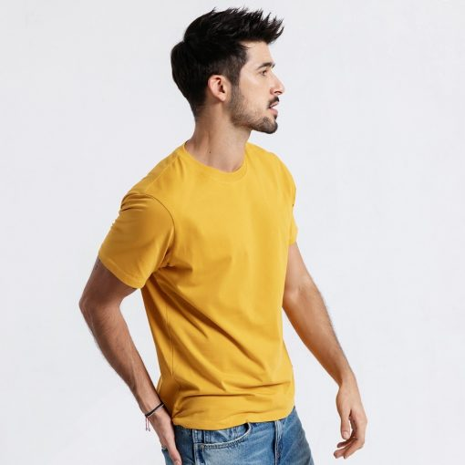 SIMWOOD 2019 Summer New T-Shirt Men 100% Cotton Solid Color Casual t shirt Basics O-neck High Quality Plus Size Male Tee 190004 2