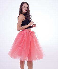 Fashion 2018 Maxi Long Tutu Tulle Skirts Womens Pleated Skirt Fashion Elastic Lolita Petticoat faldas mujer saias Jupe