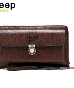 JEEP BULUO Men Wallets 2018 New Casual Wallet Men Purse Clutch Bag Microfiber Leather Wallet Long Design Handbag For Man 1688
