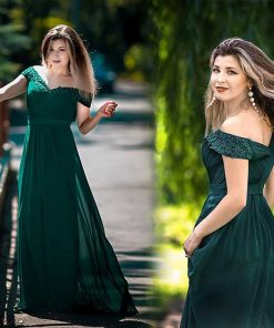 Robe De Soiree 2018 EB23368 Elegant A Line V Neck Appliques Formal Evening Dress Long Red Formal Wedding Party Gowns Plus Size 1