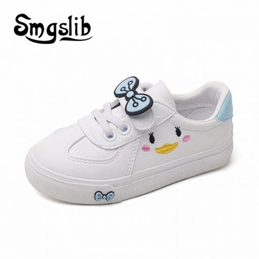 Girls Shoes Children Sneakers Kids 2018 Spring Autumn Casual Sneakers Infant Classic School Shoes Bow White Loafers Footwear