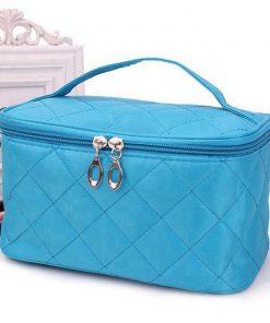 Women Travel Cosmetic Bags Diamond Lattice Zipper Men Makeup Bags Organizer Beauty Toiletry Bag Bath Wash Make Up Kits Case 1