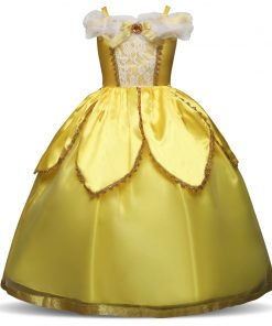 4 7 8 9 10 Years Girl Princess Bell Dresses Cinderella Ball Gown Cosplay Clothing Children Birthday Party Halloween Costumes