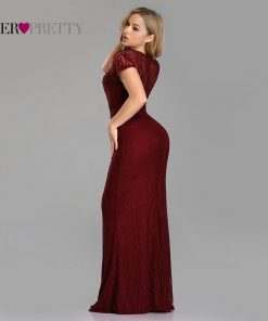 Ever Pretty Evening Dresses Long 2019 Sexy Little Mermaid Full Lace Short Sleeve See Through Special Occasion Gowns EZ07752 1