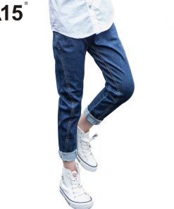 A15 Teenage Girl Jeans Pants Spring Autumn New Big Children Jeans for Girl Trousers 2017 Denim Jeans Kids Size 6 8 10 12 14 Year