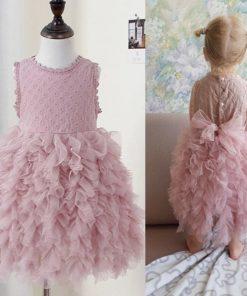 Bear Leader Girls Dress 2018 New Summer Mesh Girls Clothes Pink Applique Princess Dress Children Summer Clothes Baby Girls Dress 1