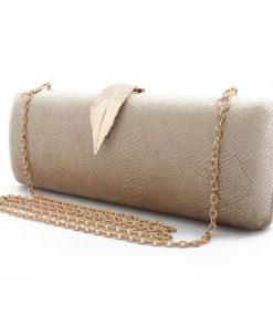 Faux Suede Evening Clutch Bag For Women Long Design Clutch Bag Gold Color Metal Leaf Lock Wedding Purse Female Handbag Bolsa 1