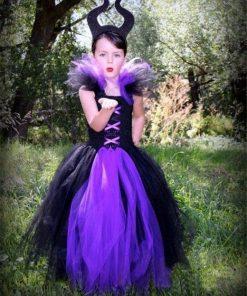 Evil Queen Kids Halloween Party Dresses for Girls Tutu Dress Children Cosplay Costume Girl Clothing Carnival Ball Gown Vestidos 1