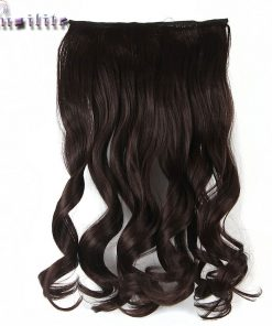 S-noilite 61CM 24 inches Cosplay Curly Long Women One Piece Clip in Full Head Hair Extensions 5 Clips on Synthetic Hairpiece
