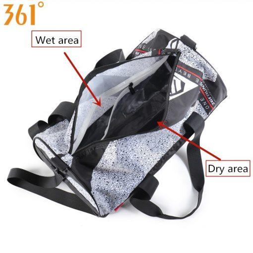 361 Sports Bags Gym Handbag waterproof Swimming Shoulder Bag 25L Combo Dry Wet Bag Travel Camping Pool Beach Men Women Children 1