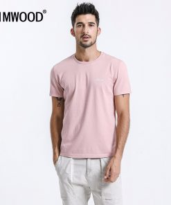 Simwood 2019 New Arrival Brand T-shirts Men Short Sleeve O-neck Casual Slim Fit Tops Tees Plus Size Free Shipping TD017105