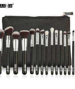 MAANGE 6-15Pcs Makeup Brushes Set Powder Foundation Eyeshadow Cosmetic Make Up Brush With PU Leather Case Beauty Tool Kit