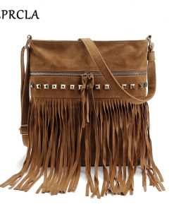 Fashion Rivet Tassel Women Bags High Quality Shoulder Messenger Bags Designer Ladies Handbags Crossbody Bolsa Feminina