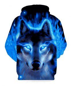 Fashion Men Wolf Animal 3D Printed Hooded Hoodies Men / Women's Shinning Wolf Design Sweatshirts 3D Harajuku Hoody 1
