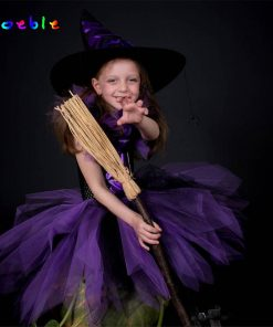 Little Witch Baby Halloween Costume for Girls Tulle Tutu Dress Kids Party Dresses Girl Children Cosplay Costume Festa Infantil