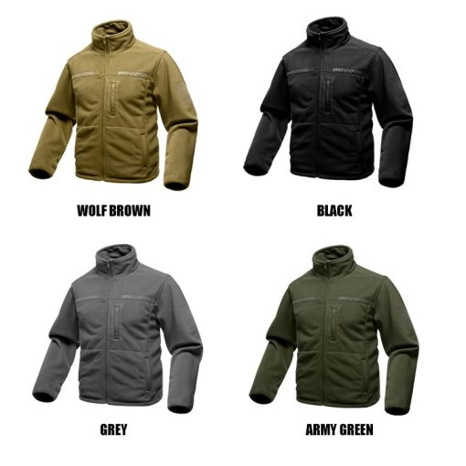 FREE SOLDIER Outdoor Sports Camping Hiking Jackets Men's Clothing Tactical Fleece Jacket Warm Fleece Coat For Men  1