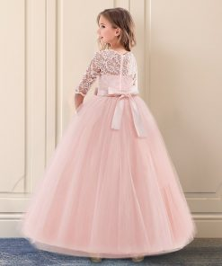 Kids Bridesmaid Lace Girls Dress For Wedding and Party Dresses Evening Christmas Girl long Costume Princess Children Fancy 6 14Y 1