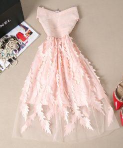 Young Gee Women Lace Bandage Patchwork Stretch Elegant Dress Vintage Floral Fit&Flare Dresses Gown Formal Party Dresses Vestido 1