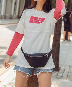 REPRCLA Waist Pack Fashion PU Leather Fanny Pack for Women Belt Waist Bag Brand Designer Shoulder Bag Casual Female Chest Bag 1
