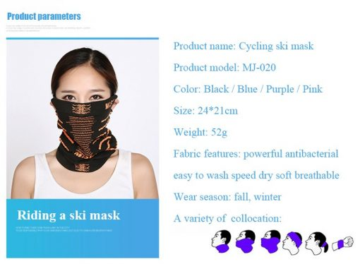 WEST BIKING Warm Winter Cycling Face Mask Windproof Multifunction Face Protection Magic Scarf Headgear Cap Thermal Bicycle Mask 3