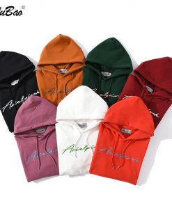 BOLUBAO Men's Hoodies Letter Men Jogging Hooded Sweatshirts Comfortable Solid Color Breathable Hoodies Sweatshirt Male 1
