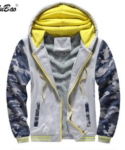 BOLUBAO Fashion Brand Men Casual Hoodies Winter Men's Camouflage Hoodies Sweatshirts Plus Velvet Thick Hooded Sweatshirts Male 1