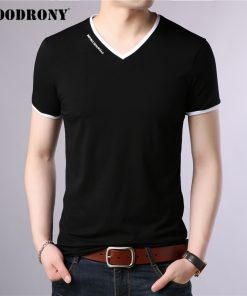 COODRONY Brand T Shirt Men Fashion Casual V-Neck Short Sleeve T-Shirt Mens Clothing Summer Cotton Tee Shirt Homme Tshirt C5080S 1