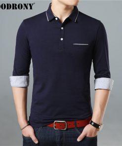 COODRONY Long Sleeve T Shirt Men Brand Business Casual Tshirt Men Turn-down Collar T-Shirt Men Soft Cotton Tee Shirt Homme 95005 1