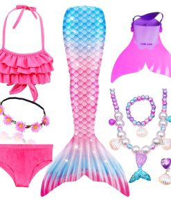 Girls Swimming Mermaid Tails for Swimming Costume Kids Children Little Mermaid Swimsuit Swimwear Can Add MonoFin Cosplay 1