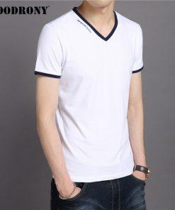COODRONY Brand T Shirt Men Fashion Casual V-Neck Short Sleeve T-Shirt Mens Clothing Summer Cotton Tee Shirt Homme Tshirt C5080S 2