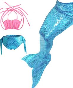 Kids Children Mermaid Tails for Swimming Swimsuit Cosplay Clothing Girls Mermaid Tail Costume Swimmable for Children Kids 2