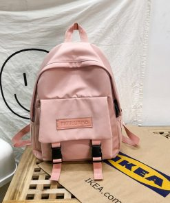 New Trend Female Backpack Casual Classical Women Backpack Fashion Women Shoulder Bag Solid Color School Bag For Teenage Girl 3
