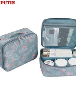 RUPUTIN 2018 New Women's Make up Bag Travel Cosmetic Organizer Bag Cases Printed Multifunction Portable Toiletry Kits Makeup Bag 1