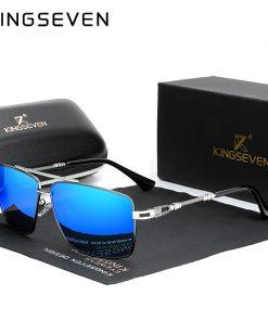 KINGSEVEN 2020 New Men's Glasses Structure Design Temples Sunglasses Brand Polarized Women Stainless steel Material Gafas De Sol 1