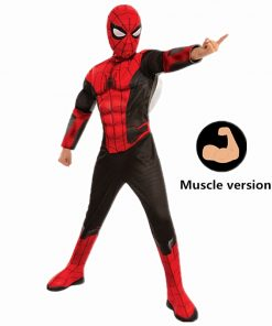 4-12Y Child Marvel Spiderma Far From Home Superhero Muscle Kids Halloween Trick-or-treating Cosplay Costume Party Carnival 1